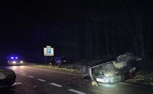 Un muerto y cinco heridos, dos de ellos graves, en un accidente múltiple en la N-121-A en Santesteban