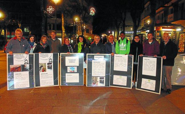 Abierta una muestra en Plaza Berri centrada en el derecho a la vivienda