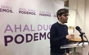El líder de Podemos Euskadi, «sorprendido» de que Uriarte se presente a las primarias al Congreso