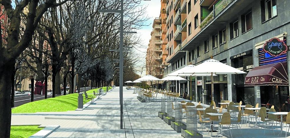 Más espacio peatonal en Amara