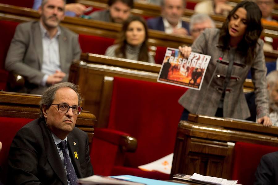 Ciudadanos se querellará contra Torra por «amparar la violencia» de los CDR