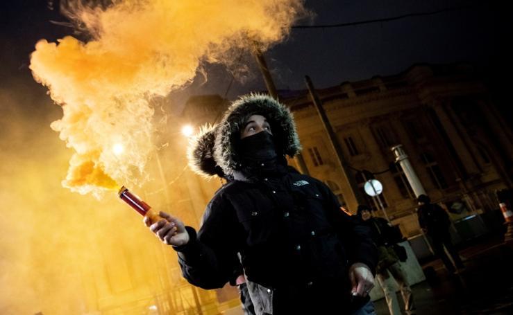 Manifestaciones policiales en París