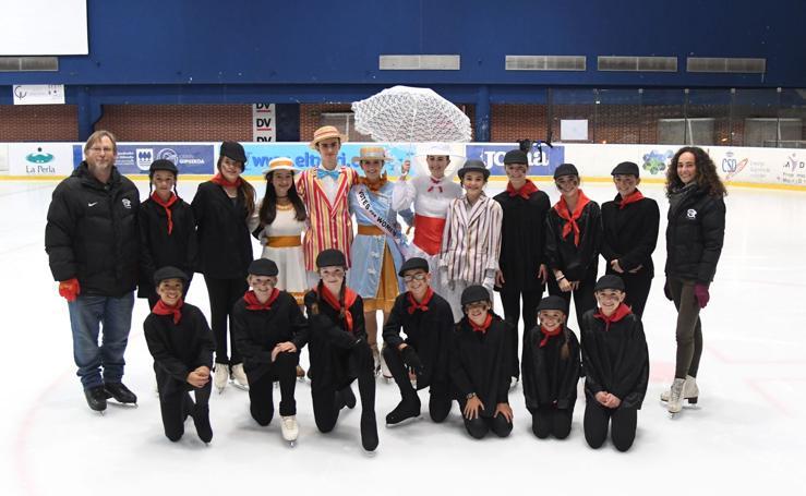 Patinando sobre hielo con Mary Poppins