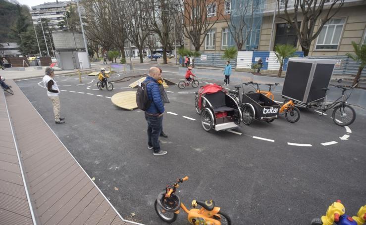 Nueva pista para las bicis en Donostia