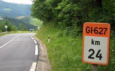 Un desprendimiento obliga a cortar la carretera GI-627, en Bergara