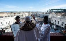 El Papa apela a «la fraternidad» entre los pueblos en su mensaje de Navidad
