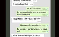 La oferta abusiva de un alquiler por Whatsapp: «Hay putas de 10 euros y otras de 1.500»