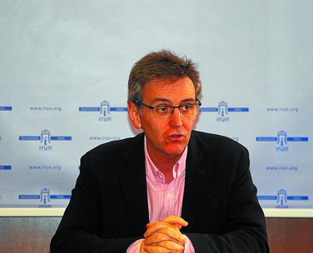 Xabier Iridoy, portavoz del PNV en el Ayuntamiento. /  F. DE LA HERA