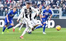 El 'capocannoniere' Cristiano y el VAR dan la victoria a la Juventus