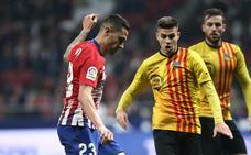 Vitolo, un año de más sombras que luces en el Atlético