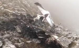 Encuentran el cuerpo de uno de los tripulantes de la avioneta siniestrada en el monte Hernio