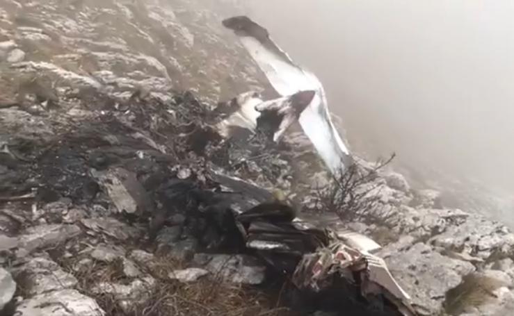 Accidente de una avioneta en el monte Hernio