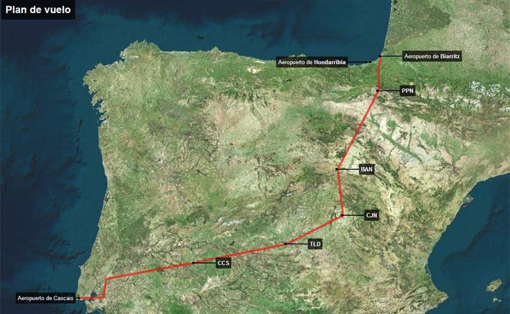 Plan de vuelo de la avioneta siniestrada en el Hernio