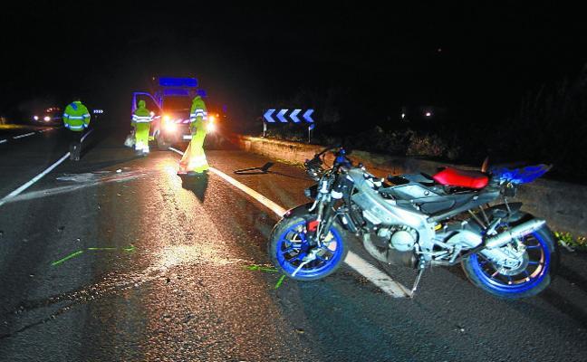 Un motorista de Zarautz, primer fallecido del año en las carreteras vascas