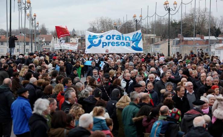 Manifestación en Baiona a favor de los presos de ETA