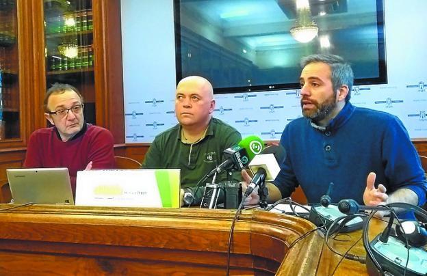 Los concejales Joxe Díez, Dani Berasategi y Jokin Melida. /  F. DE LA HERA