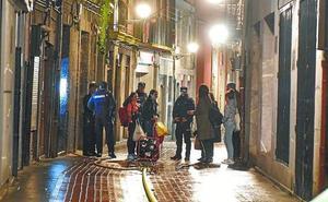 Dos afectados por inhalar humo tras un fuego en un inmueble de Tolosa