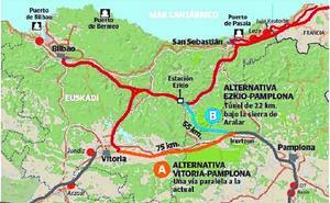 Un trazado sin nudo de Bergara, estaciones ni conexión con Burgos