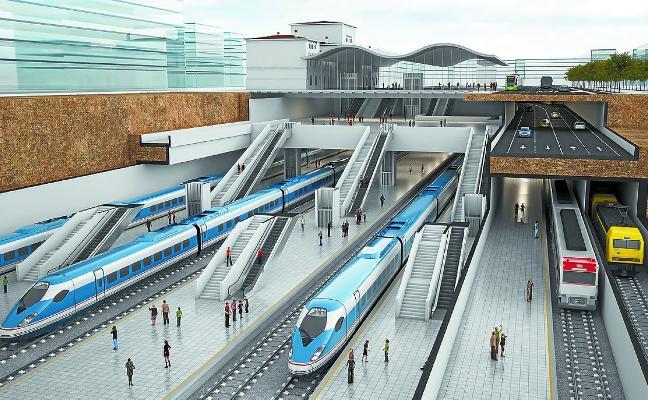 La estación soterrada del TAV de Vitoria costará cuatro veces más que la de Donostia