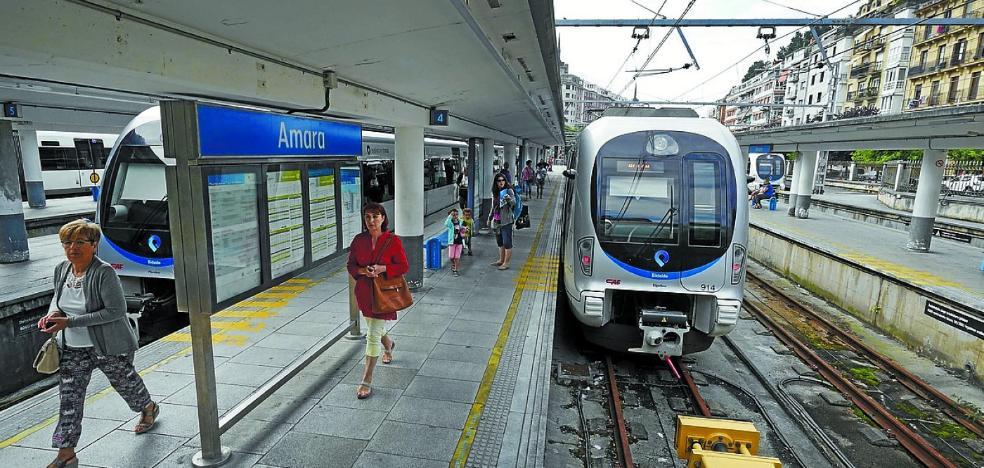 El tren de Euskotren en Gipuzkoa llega hasta los 12,2 millones de viajeros
