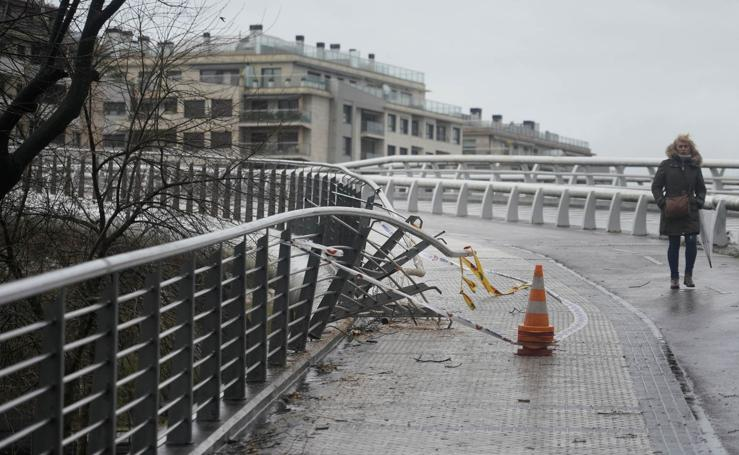 Temporal de viento y lluvia en Gipuzkoa
