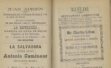 Los anuncios de 'Nomenclator y guía de San Sebastián'