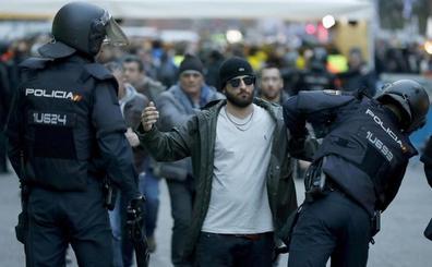 Detenidos once aficionados del Getafe por alteración del orden público