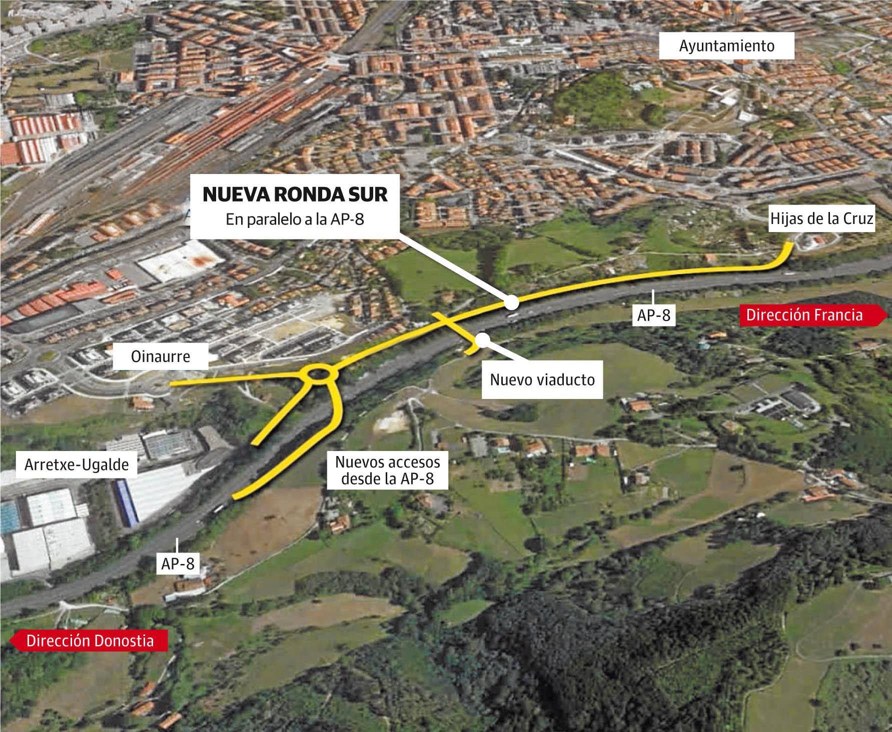 El acceso de la Ronda Sur de Irun estará operativa a principios de 2020