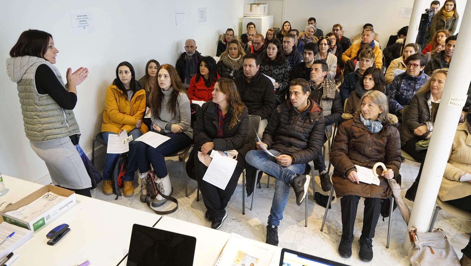 Éxito del casting de 'Patria' en San Sebastián