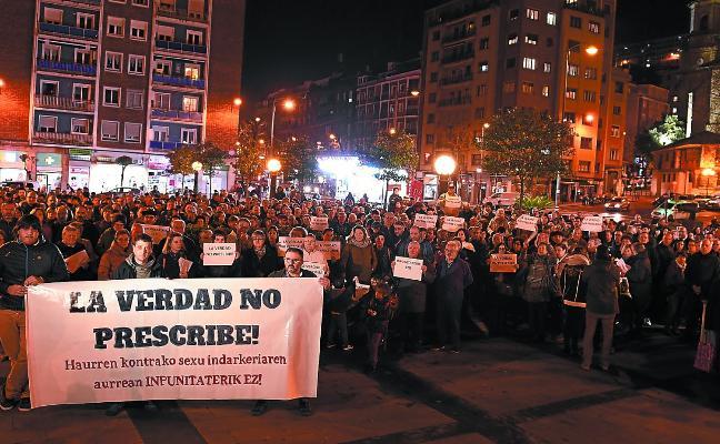 Muestras de apoyo a las víctimas en Bilbao