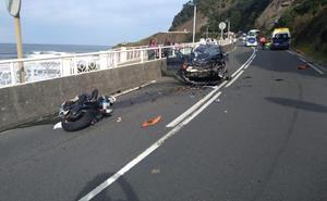 Fallece un motorista en Deba