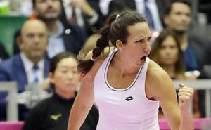 Georgina García mete a España en el 'playoff' de ascenso de la Copa Federación