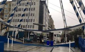 Comienza el desmontaje de la noria de Donostia