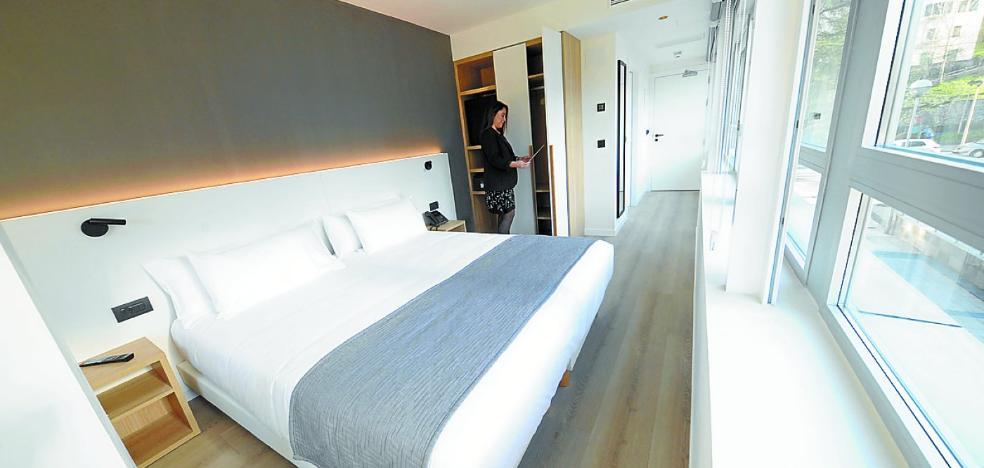 El hotel Distrito Oeste abre en la avenida de Zarautz con una oferta de 33 habitaciones