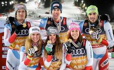 Suiza gana el oro por equipos en los mundiales