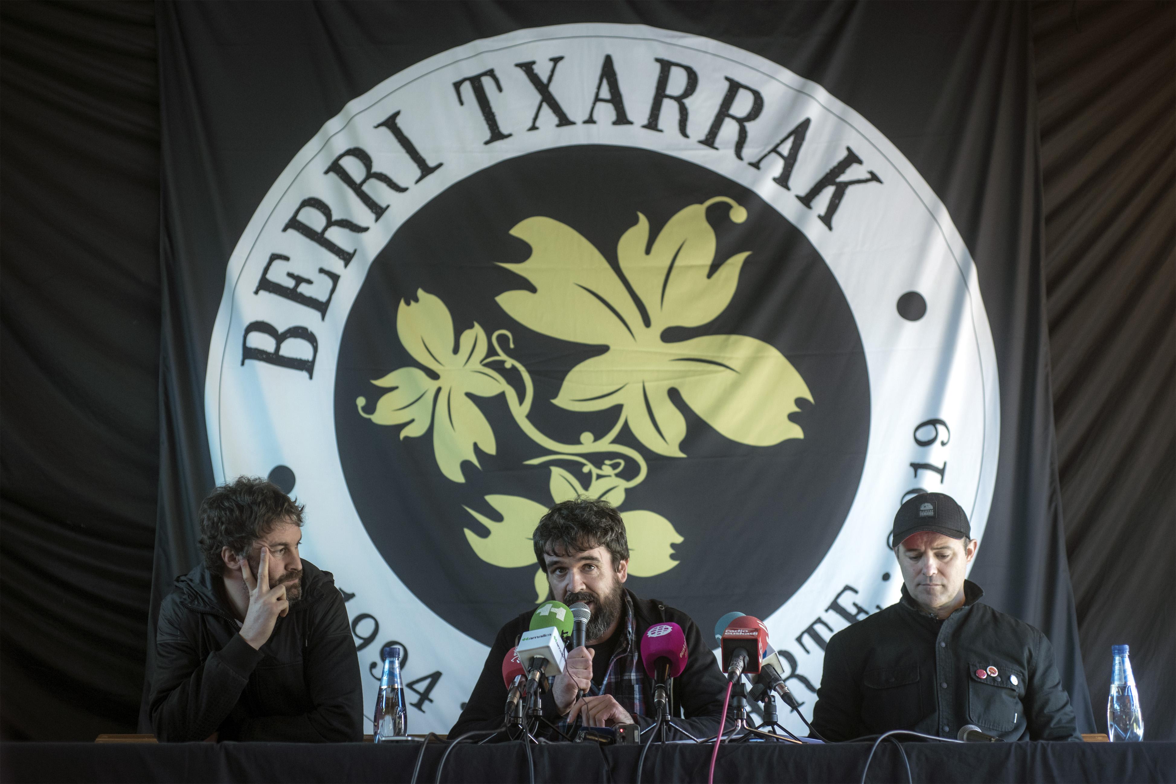 Berri Txarrak: «Responderemos al tsunami de cariño desde el escenario»