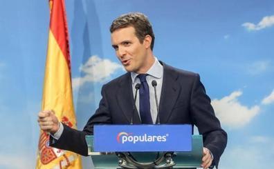 Casado plantea los comicios como un plebiscito sobre Cataluña