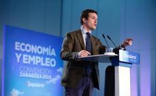 Casado defiende la «fiabilidad» del PP frente a jugar «a la ruleta rusa» con partidos «en su primer vuelo»