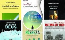 Tomas Hardy, Julian Barnes y Juan Vico, entre las novedades literarias
