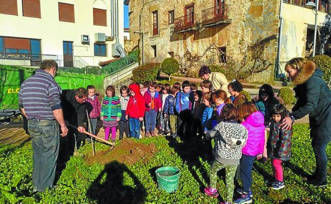 Un árbol por aula en el Zuhaitz Eguna