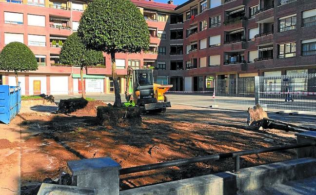 Obras para impermeabilizar la plaza Jandonianiz