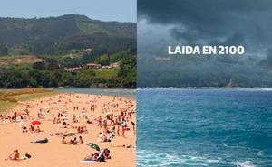 Euskadi en 2100: el mar se come las playas de Zarautz y Getaria mientras el sol seca el viñedo alavés