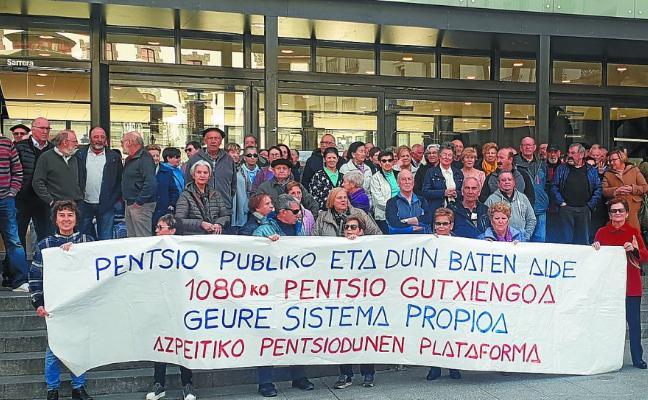 Otro lunes más, los pensionistas de Azpeitia unidos