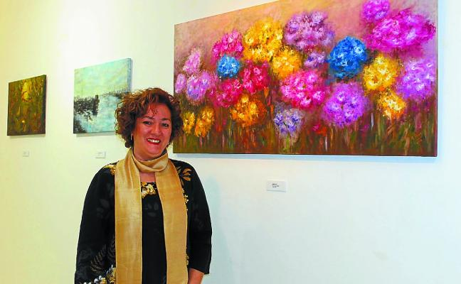Tere Ávila muestra sus obras en Biteri hasta el día 27 de este mes