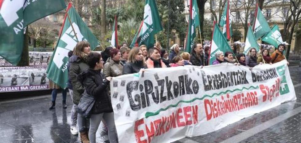 5.000 trabajadoras de las residencias de Gipuzkoa dan inicio a 19 días de huelga