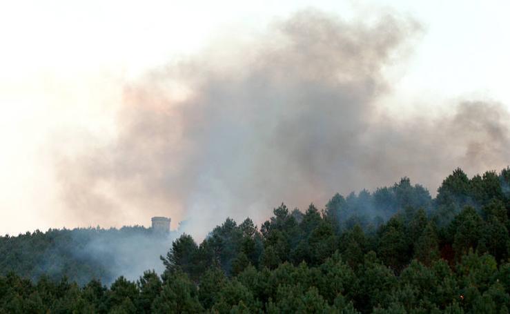 Un incendio forestal en Jaizkibel