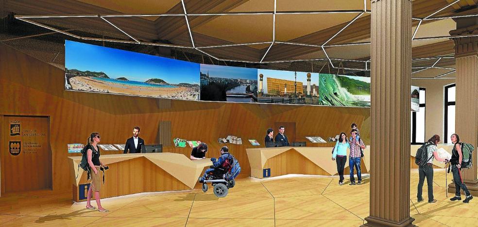 La oficina de Turismo de Donostia y Gipuzkoa abrirá en un año dentro del Ayuntamiento