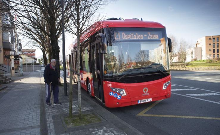 Irun ya viaja en autobús eléctrico