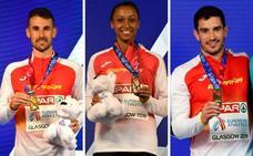 La selección española de atletismo completó en Glasgow su cuarta mejor actuación