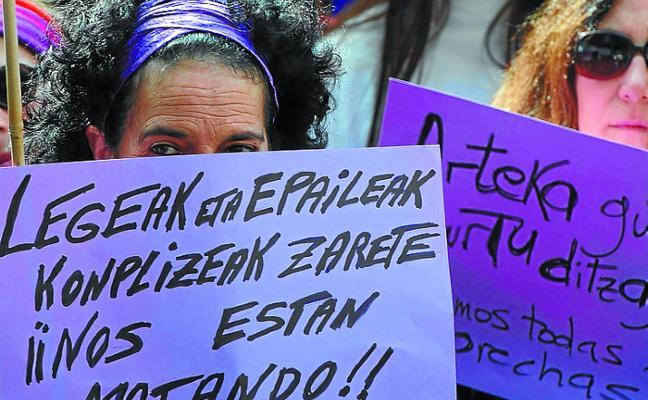 Gipuzkoa registra cada día cuatro denuncias de mujeres que sufren violencia machista